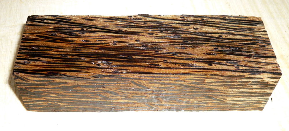 Palm Wood, Black Palmyra Knife Blank 120 x 40 x 30 mm