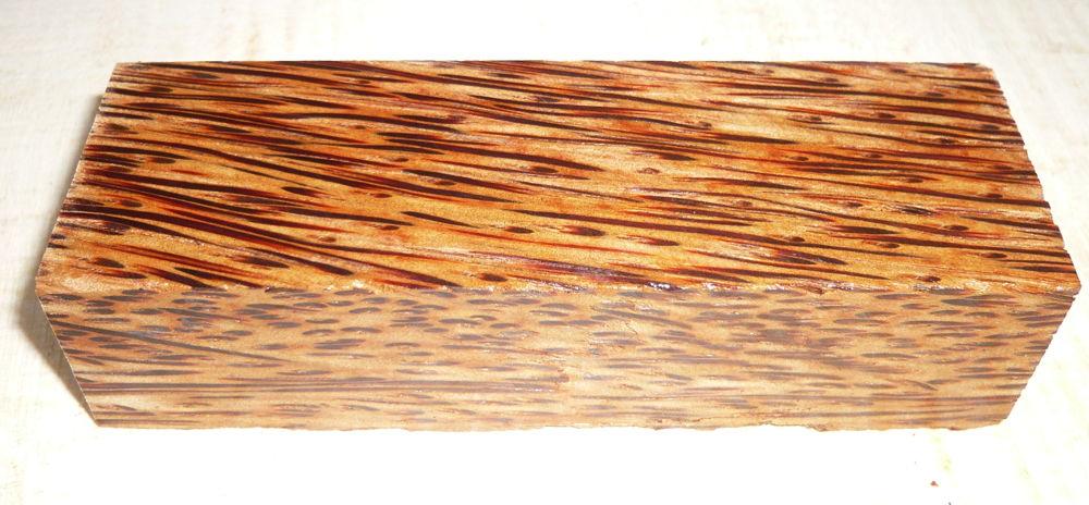 Palmenholz rot Messergriffblock 120 x 40 x 30 mm