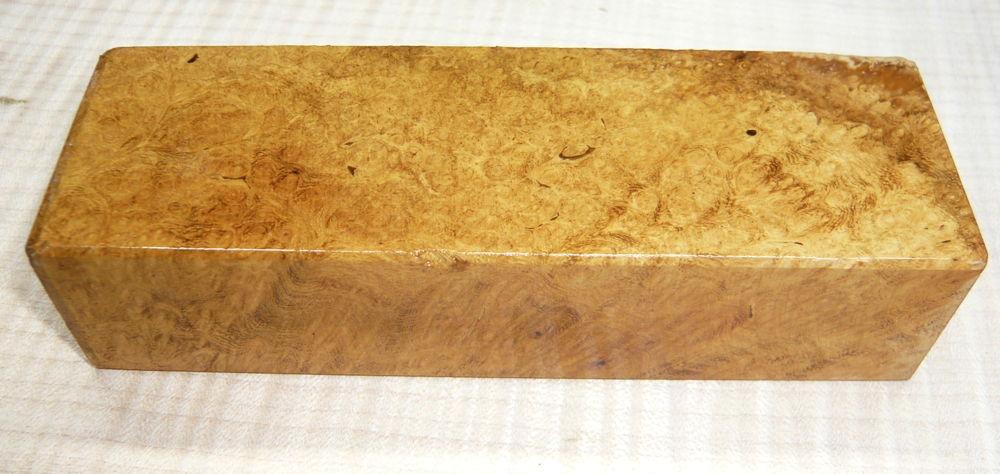 Robinie-Maser Messergriffblock 120 x 40 x 30 mm