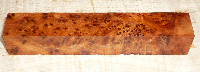 Thuja-Maser Pen Blank 120 x 20 x 20 mm