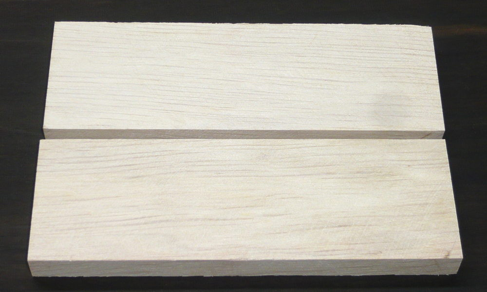 Weißbuche Griffschalen 120 x 40 x 10 mm