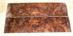 Walnut Burl, Caucasian Razor Scales 150 x 40 x 4 mm