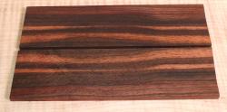 Macassar Coromandel Straight Razor Scales 150 x 40 x 4 mm