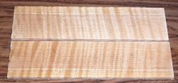 Fiddleback Maple, Curly Maple Razor Scales 140 x 40 x 4 mm