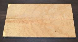Black Locust Burl Razor or Folder Scales 140 x 40 x 4 mm