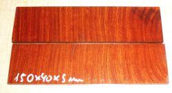 Amboina, Narra Cross Cut Rasiermesser-Griffschalen 150 x 40 x 4 mm