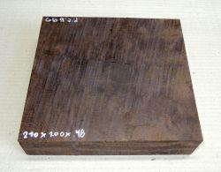 Gb009 Coraçao de Negro, Gombeira Wood Blank 210 x 200 x 48 mm