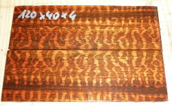 Snakewood Folder Knife Scales 120 x 39 x 4 mm