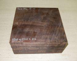 Gb036 Coraçao de Negro, Gombeira 170 x 170 x 80 mm
