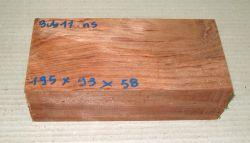 Bub011 Bubinga 195 x 93 x 58 mm
