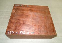 Bub019 Bubinga 220 x 195 x 60 mm