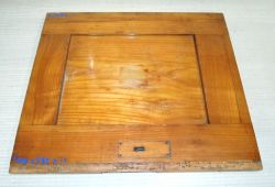 Ki507 Antique Biedermeier Solid Cherry Wood Panel 440 x 385 x 20 mm