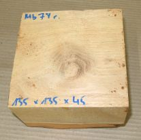 Mb078 Mulberry Wood 135 x 135 x 45 mm