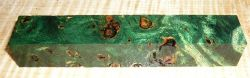 Poplar Burl Pen Blank Green Stabilized 120 x 20 x 20 mm