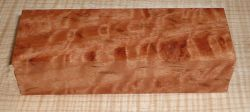 River Red Gum, Red Eucalypt Curly Knife Blank 120 x 40 x 30 mm