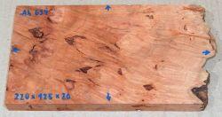 Ah634 Oregon-Ahorn Maser gestockt 220 x 125 x 20 mm