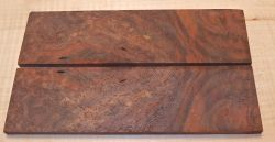 Walnut Burl, Black Walnut Razor Knife Scales 140 x 40 x 4 mm