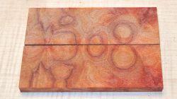 Kampfer Maser Griffschalen 120 x 40 x 10 mm