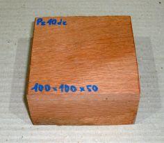 Pz010 Perlholz Block, Schalenrohling 100 x 100 x 50 mm