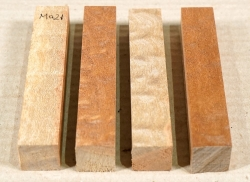 Ma021 Mahogany Sapeli Pommelé  Sapwood Pen Blank 4 pcs 120 x 20 x 20 mm