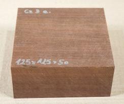 Cz003 Chico Zapote, Sapodilla Schalenrohling 125 x 125 x 50 mm