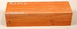 Pad296 Padauk, Coral Wood Blank 215 x 70 x 50 mm