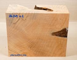 Ah704 Oregon-Ahorn Maser gestockt Block 290 x 240 x 125 mm