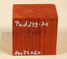Pad299 Padauk, Coral Wood Block 80 x 75 x 60 mm