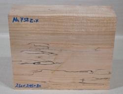 Ah738 Oregon Maple Burl Spalted Block 260 x 215 x 80 mm