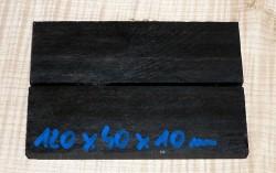 Ebenholz Griffschalen 120 x 40 x 10 mm