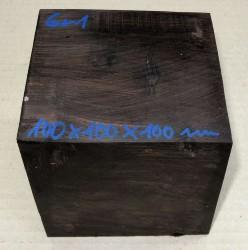 Gr001 Grenadill Block, Schalenrohling 100 x 100 x 100 mm